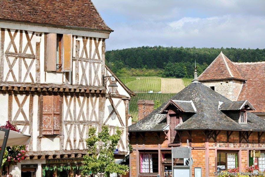 La ville de Chablis, en Bourgogne
