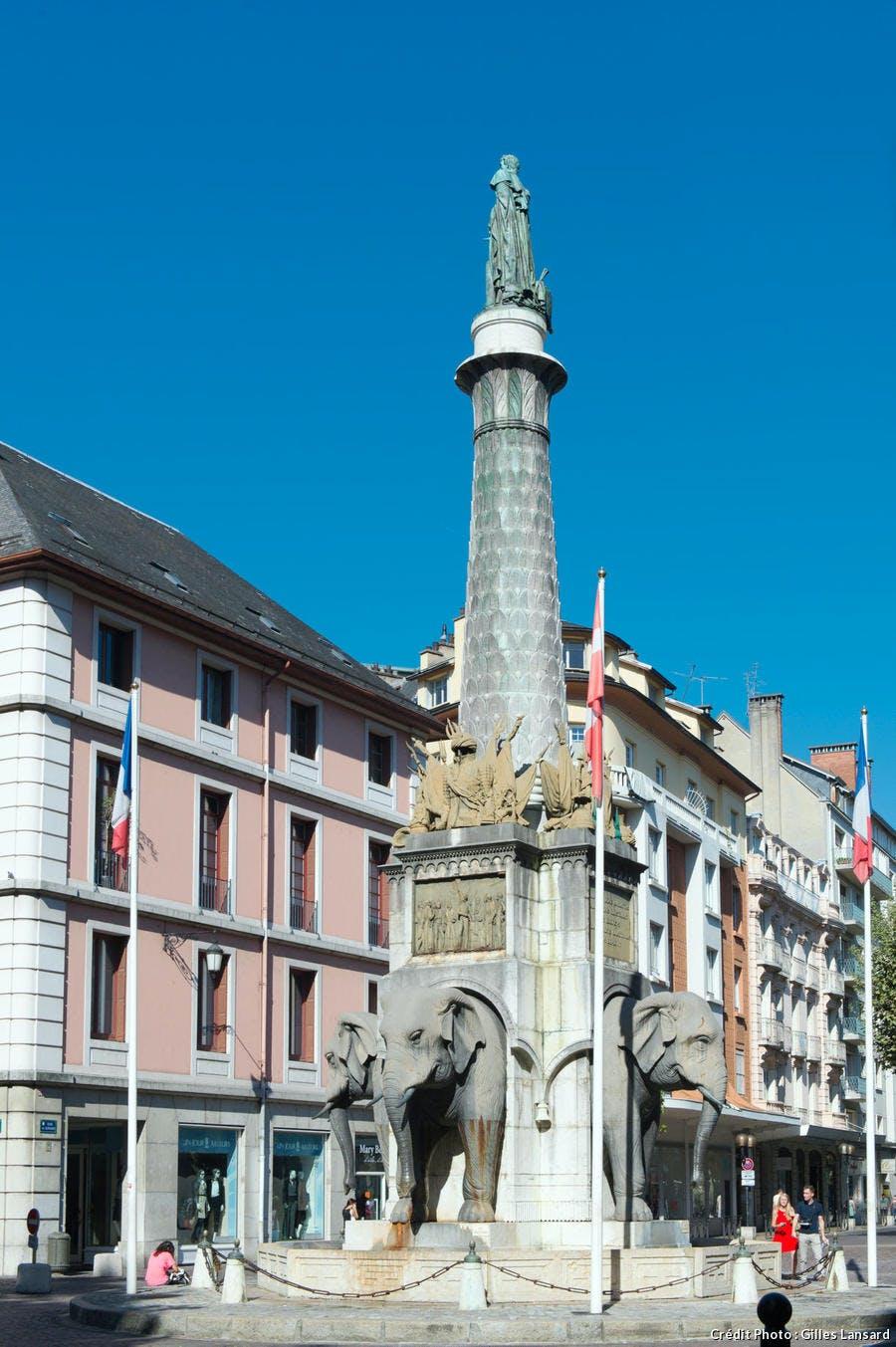 La fontaine des Eléphants de Chambéry