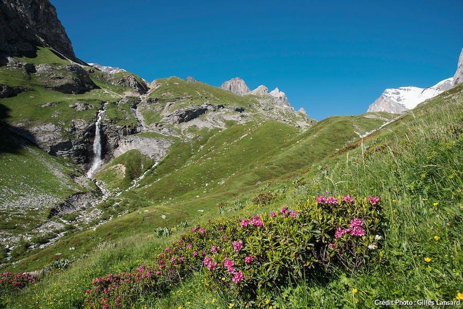 Col de la Vanoise, la cascade du Valonnet