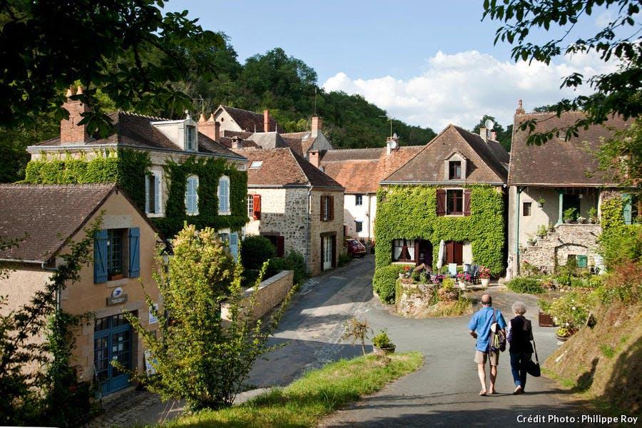 Le village de Gargilesse-Dampierre dans la vallée de la Creuse