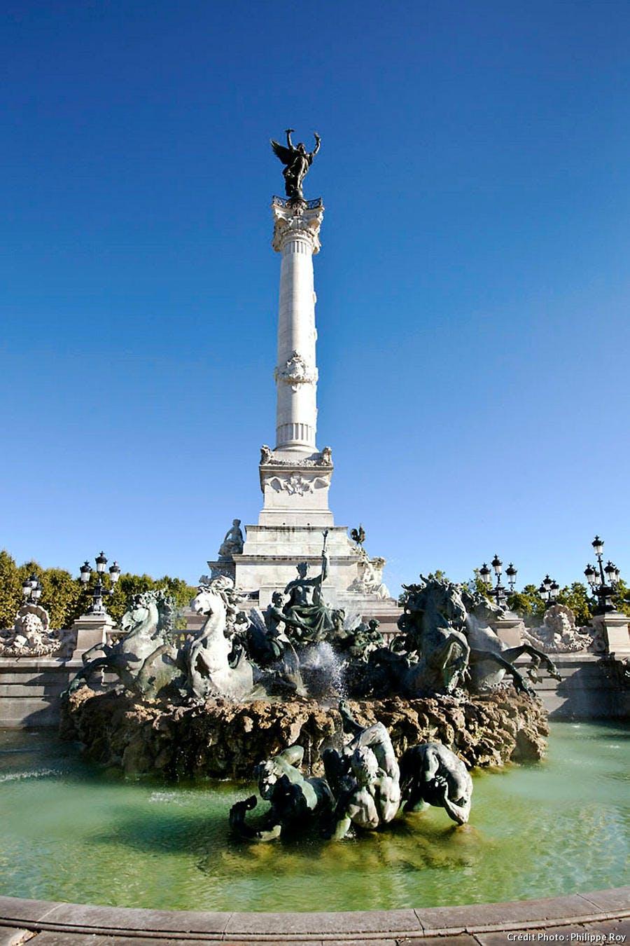 La fontaine des Girondins à Bordeaux