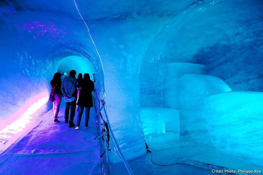 Grotte de la mer de glace à Chamonix