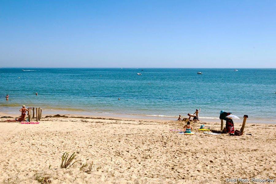La plage de Trousse-Chemise, sur l'île de Ré (Charente-Maritime)