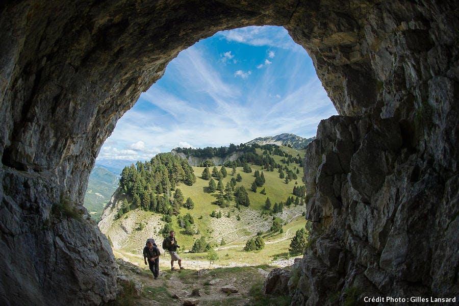 La grotte des résistants, dans le massif du Vercors
