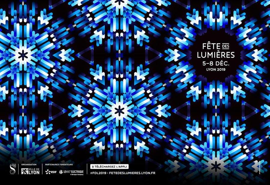Affiche fête des Lumières de Lyon 2019