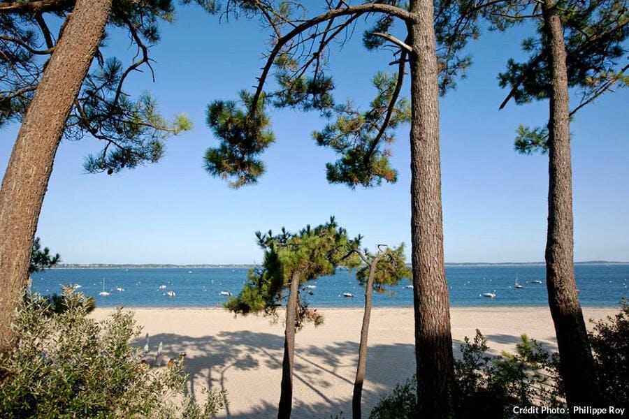 La plage Pereire, à Arcachon (Gironde)