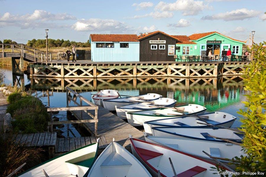 Le port des Salines sur l'île d'Oléron, en Charente-Maritime (Poitou-Charentes)