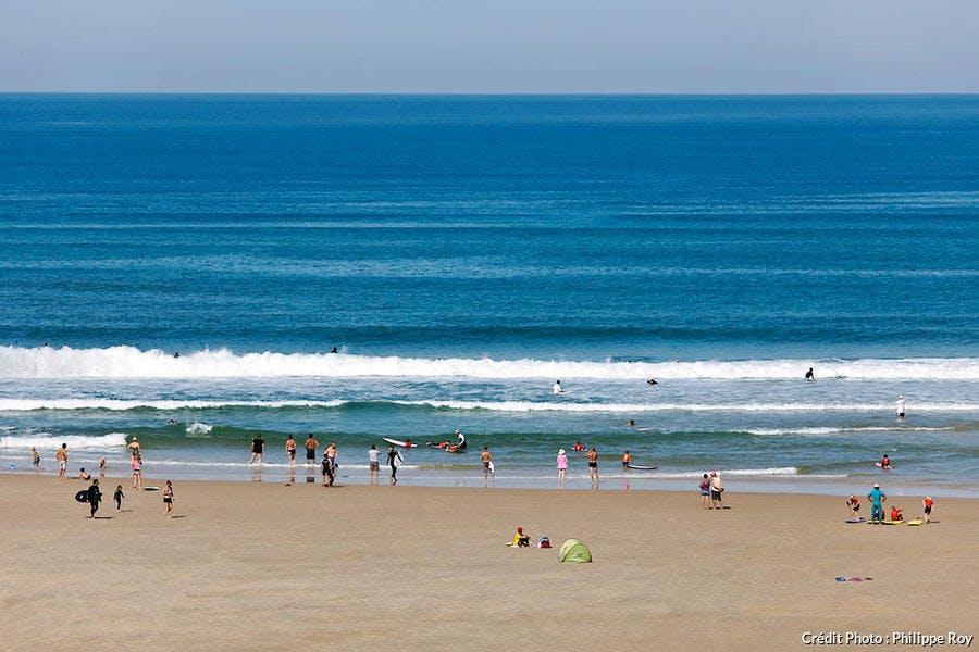 La plage de Biscarrosse, dans les Landes