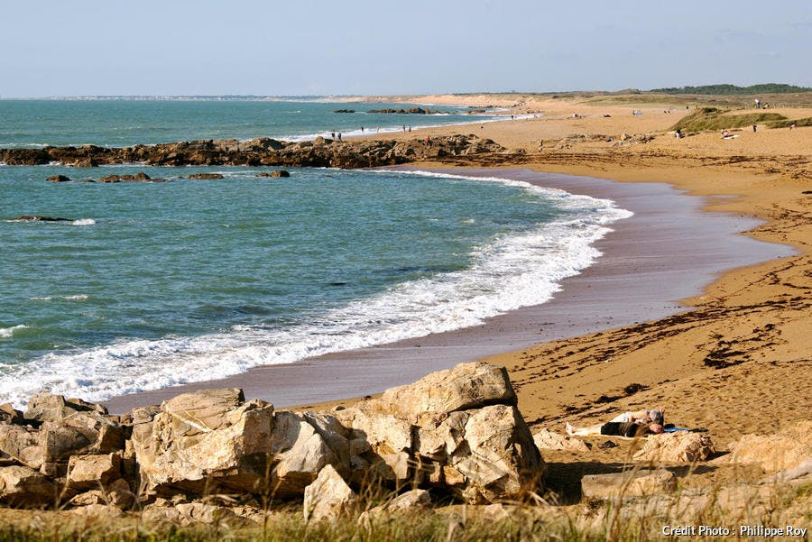 La plage de la Paracou, aux Sables d'Olonne (Vendée)