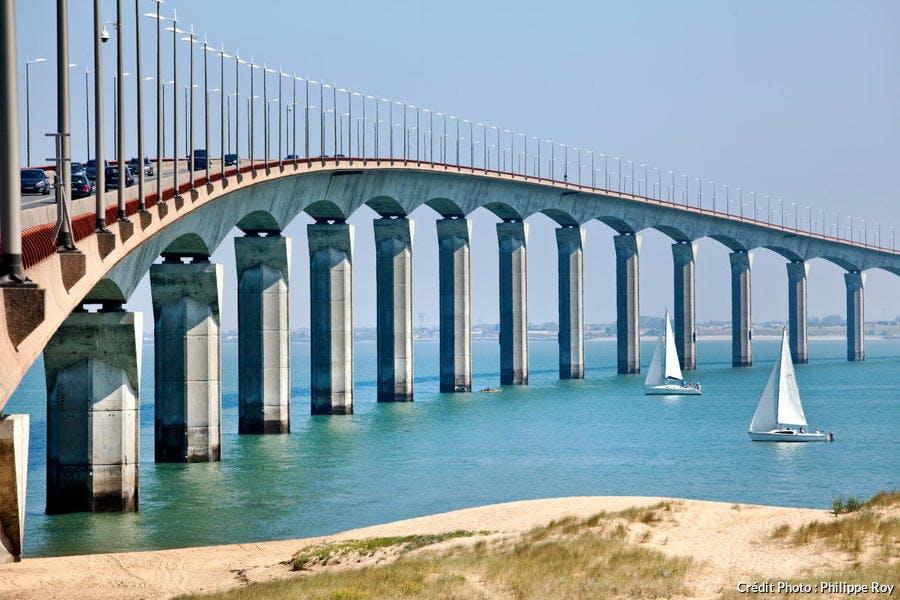 Le pont de l'île de Ré, en Charente-Maritime (Poitou-Charentes)