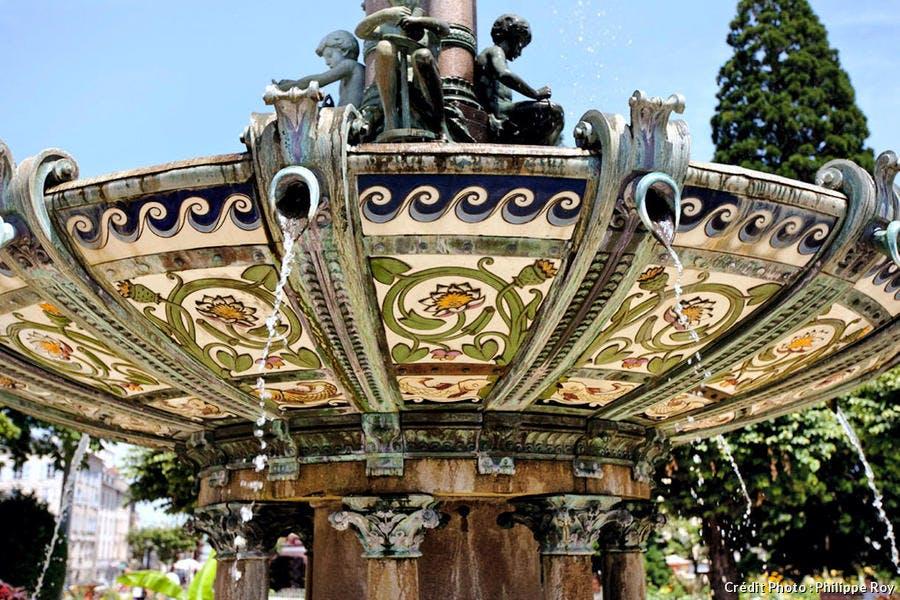 La fontaine de l'hôtel de ville à Limoges