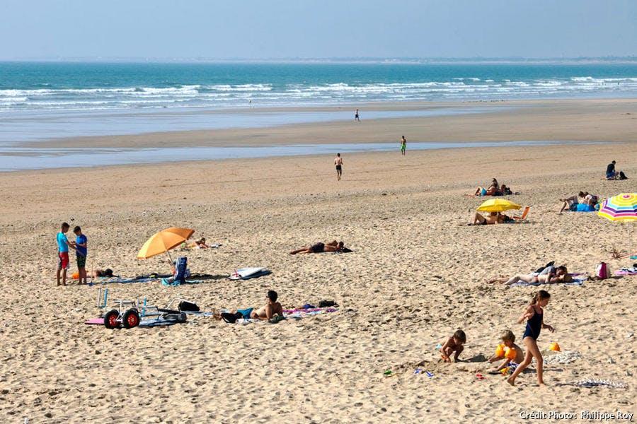 La plage de Saint-Trojan-les-Bains, sur l'île d'Oléron (Charente-Maritime)