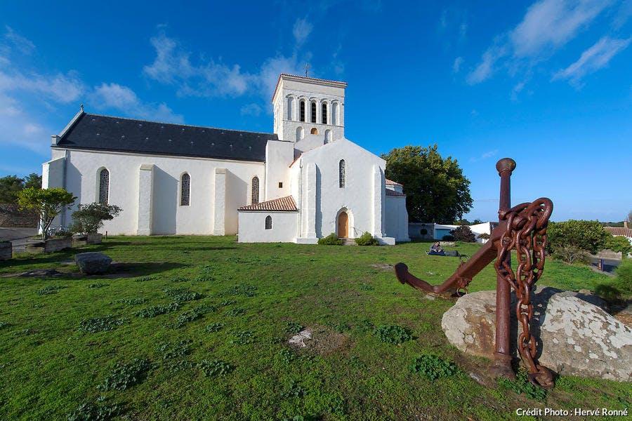 L'Église Saint-Sauveur sur l'île d'Yeu