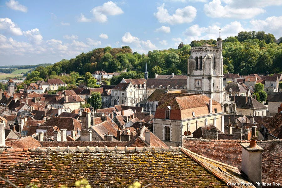 Les toits de Tonnerre, en Bourgogne