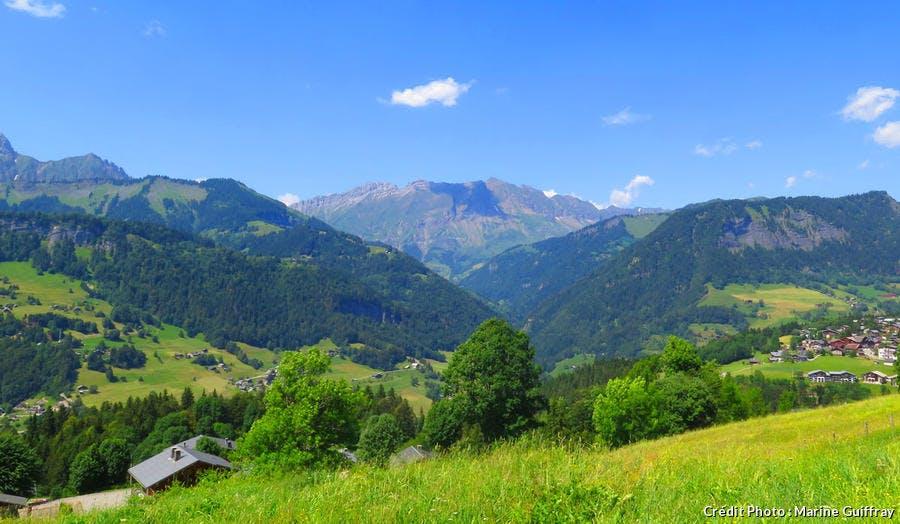 Le massif des Aravis depuis Crest Voland Cohennoz