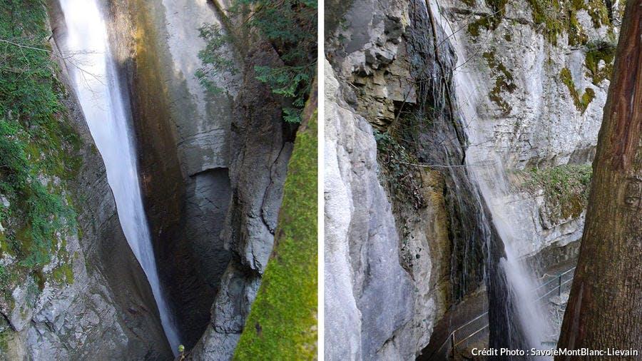 La cascade d'Angon, en Haute-Savoie
