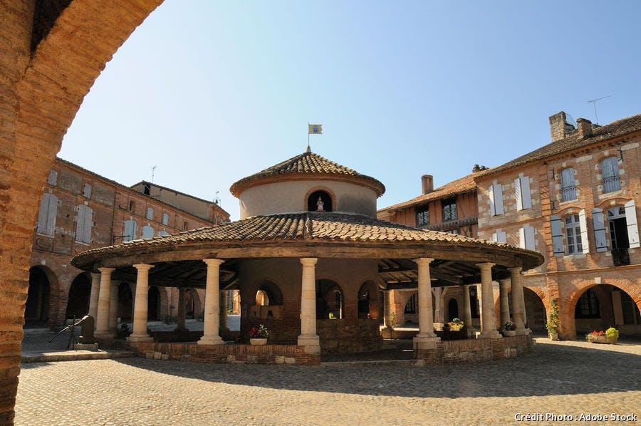 La halle aux grains d'Auvillar (Occitanie)