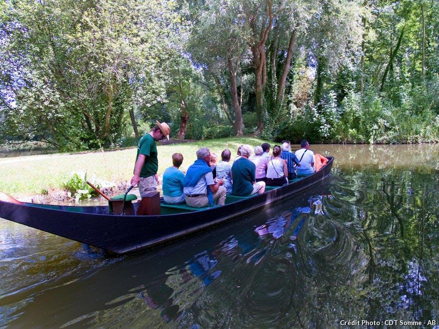 Barque à cornet aux Hortillonnages