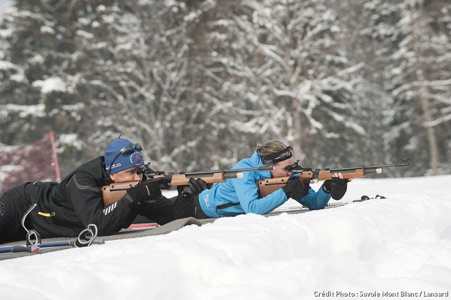 Biathlon, tir à la carabine