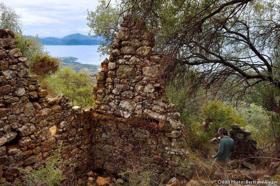 Les ruines de Paomia à Cargèse