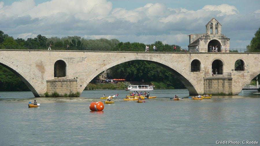 Balade en canoë sur le Rhône