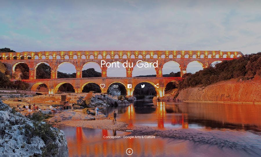 Le Pont du Gard en visite virtuelle sur Google Arts and Culture