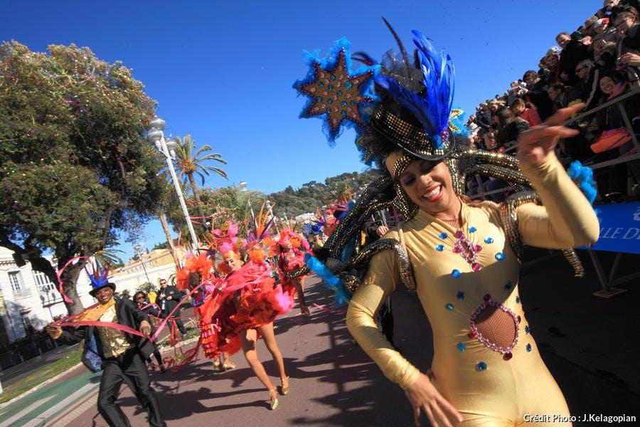 Déguisements de Marid gras au carnaval de Nice