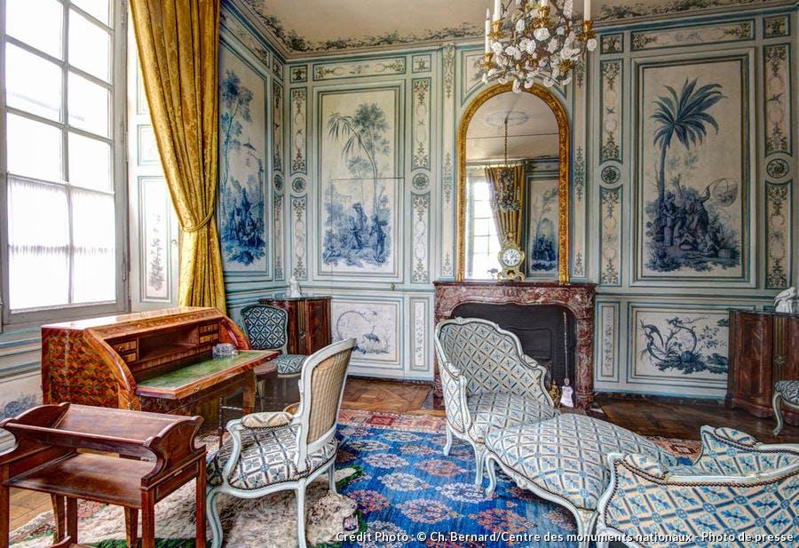 Le boudoir camaïeu du château de Champs-sur-Marne