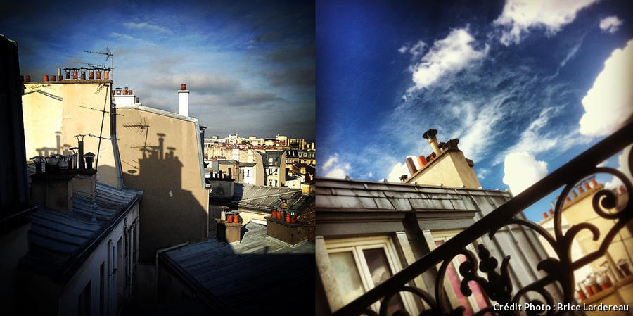 Photos instagram des toits de Paris