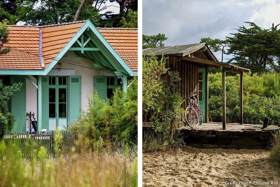 Une maison et une cabane du Cap-Ferret
