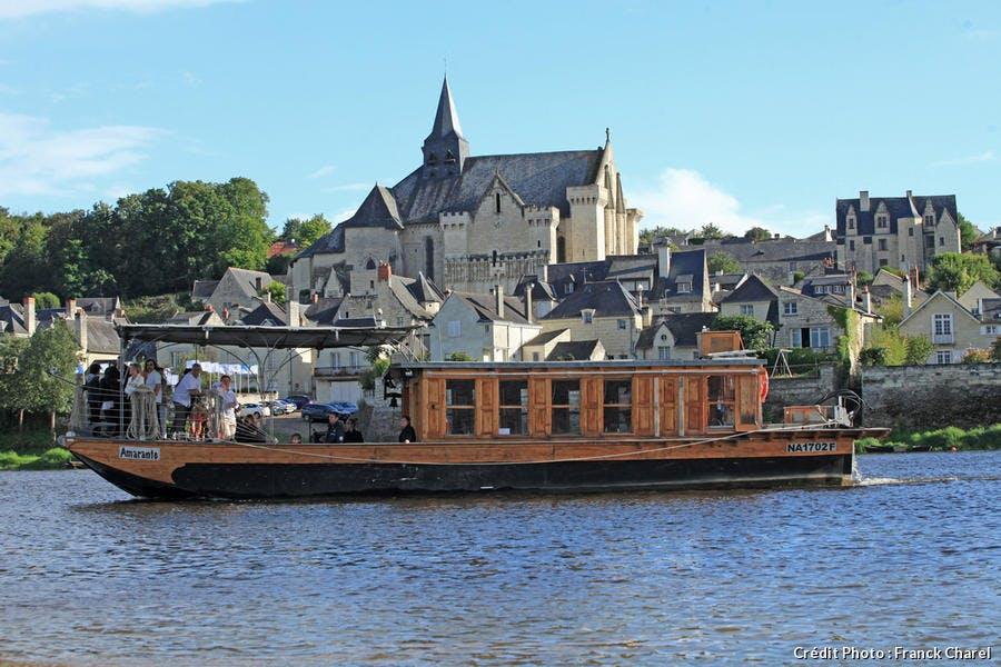 Bateau à vocation touristique, à Candes-Saint-Martin