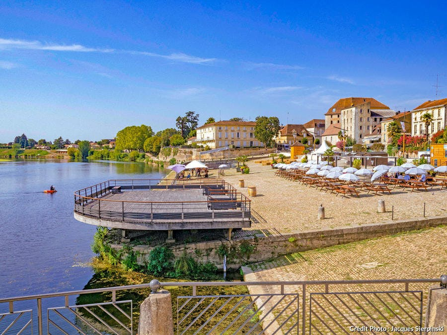 Quai Salvette à Bergerac