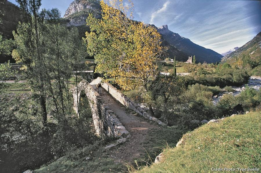 Le pont des Pèlerins à Canfranc Espagne