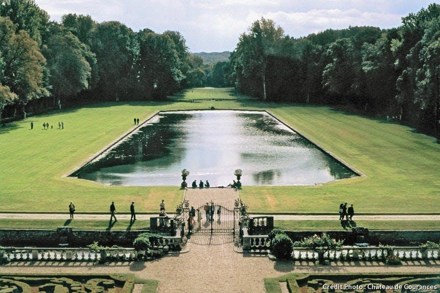 Le Miroir, bassin des jardins de Courances