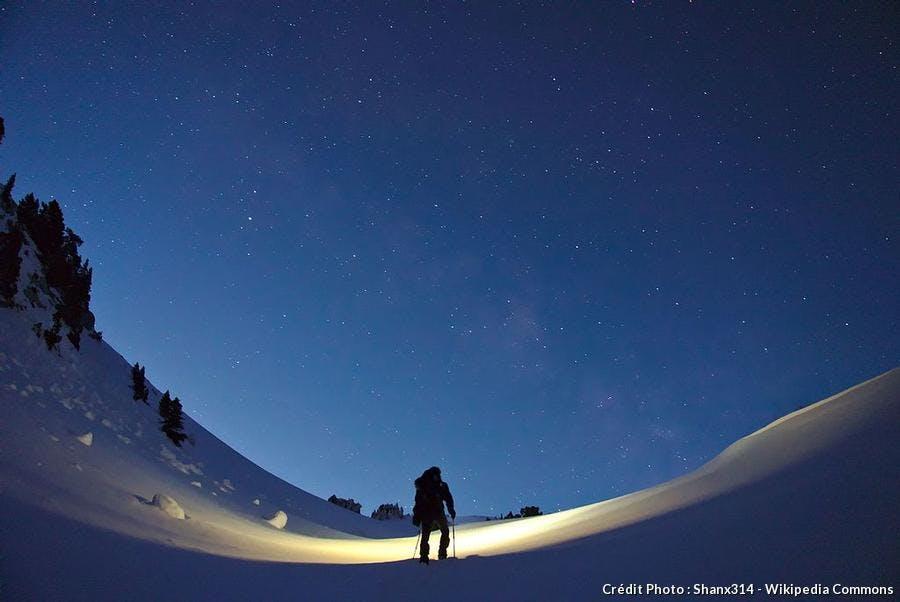Ciel étoilé en montagne