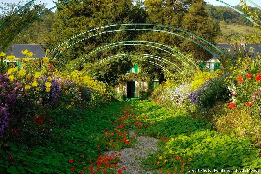 jardin de la maison de Claude Monet