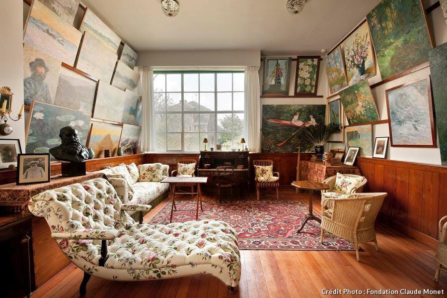 salon ateleir de la maison de Claude Monet