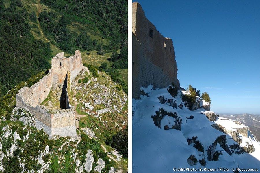 Les remparts du château de Montségur