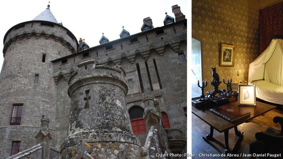 Entrée et intérieur du château de Combourg