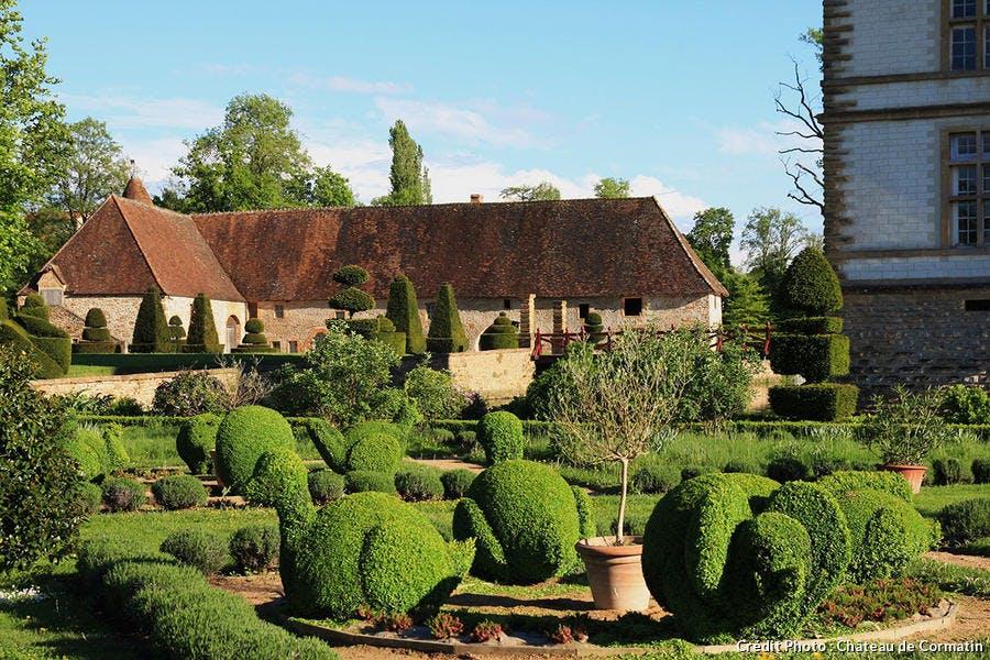 Les jardins du château de Cormatin