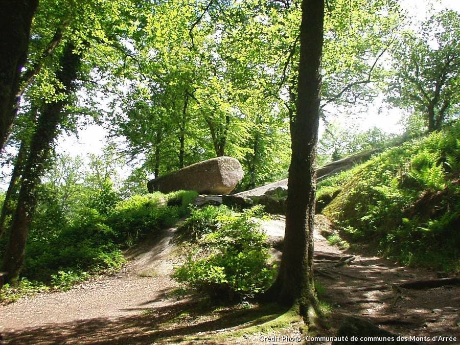 La roche tremblante de la forêt d'Huelgoat