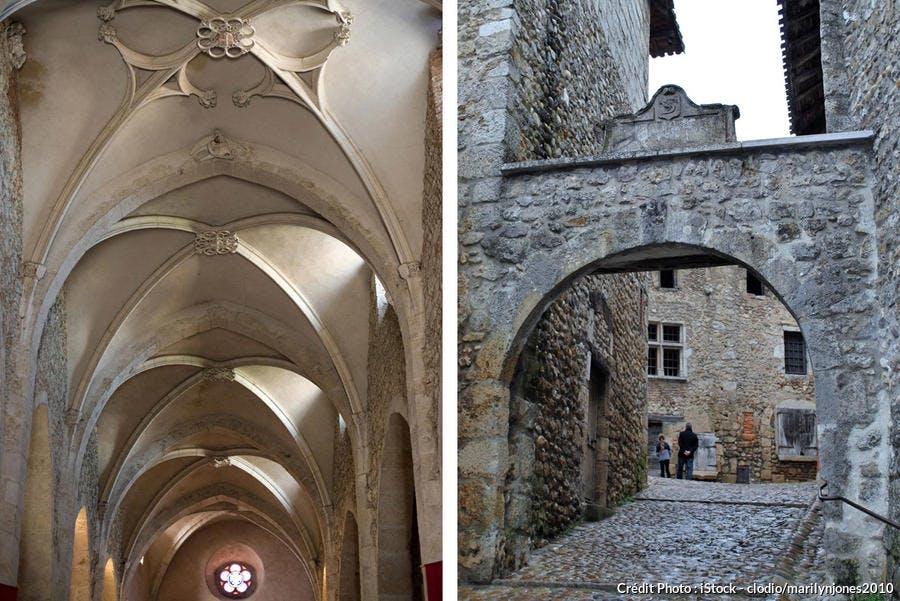 Couloir gothique et arc