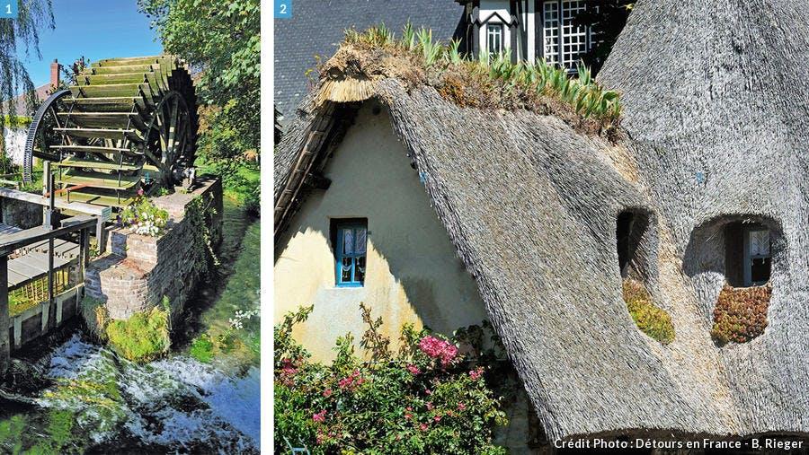 Moulin et toit en chaume