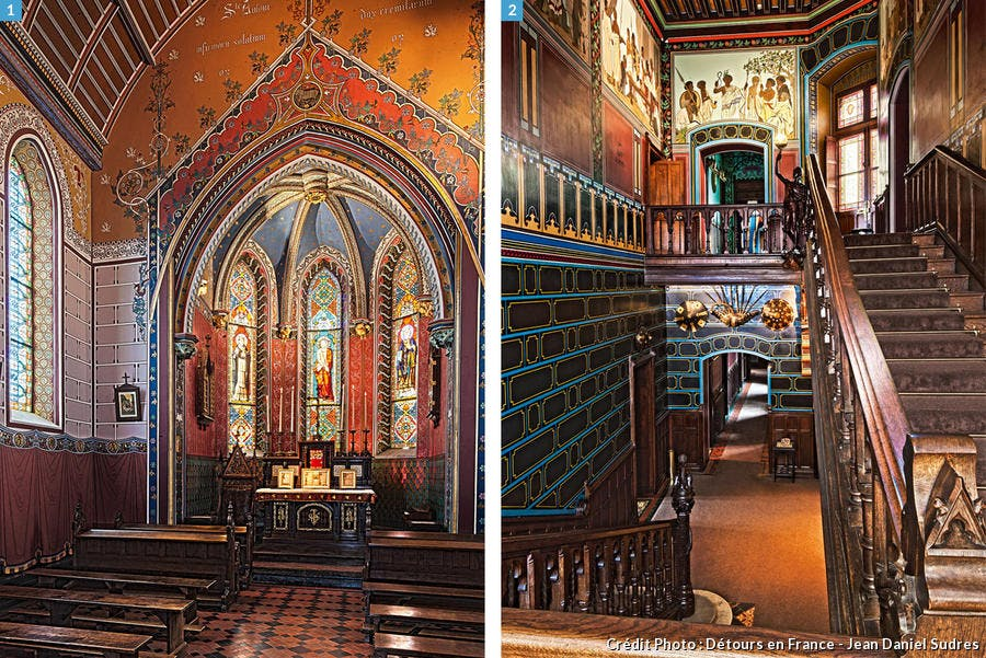 Chapelle et vestibule du château Abbadya à Hendaye