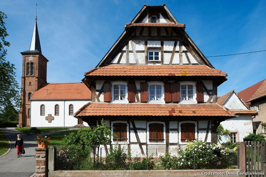 Maison à colombages à Hunspach