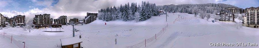 La Tania premières neiges de 2015