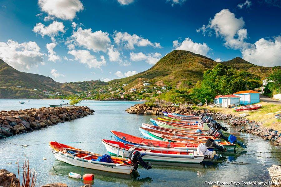 Les mornes autour des Anses-d'Arlet en Martinique