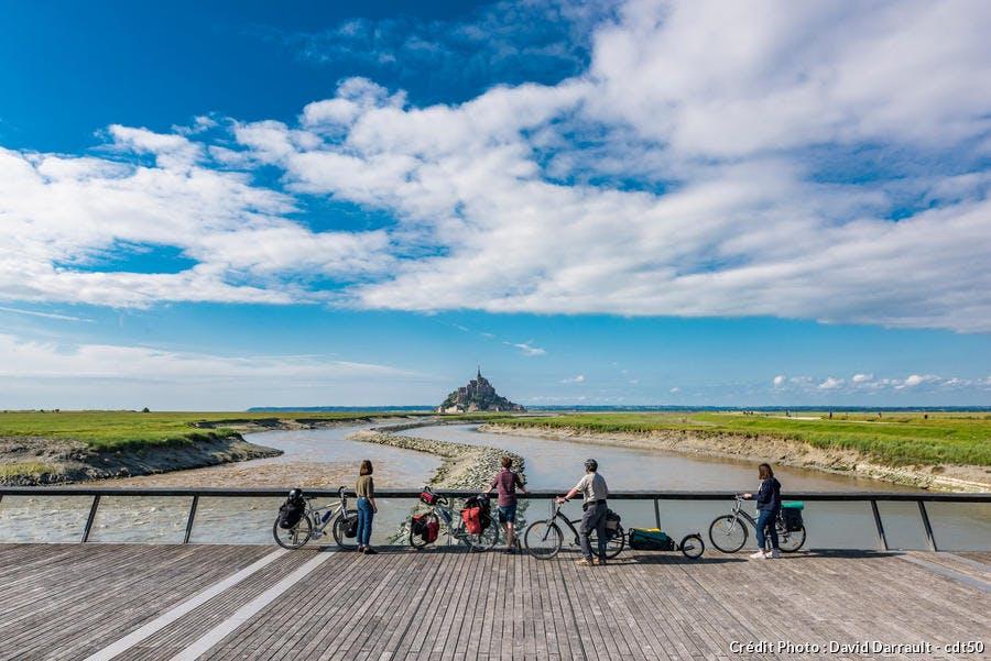 Le Mont Saint-Michel à vélo