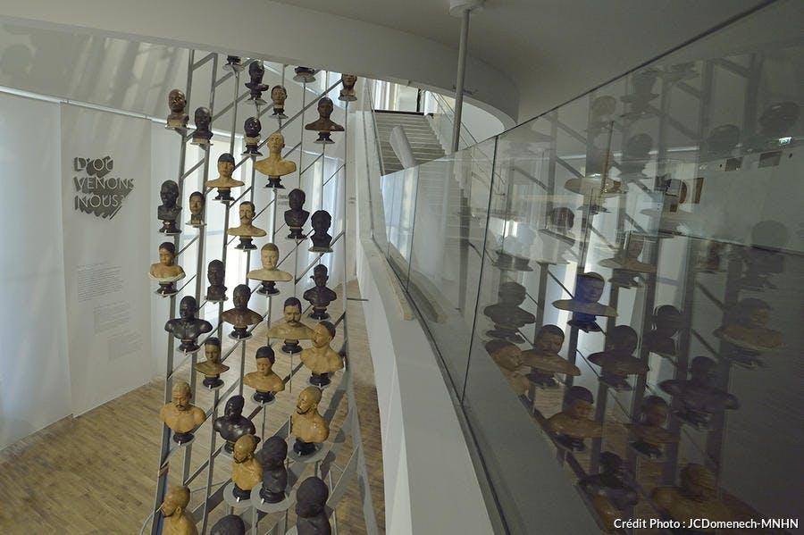 vue depuis la mezzanine sur la galerie de l'Homme