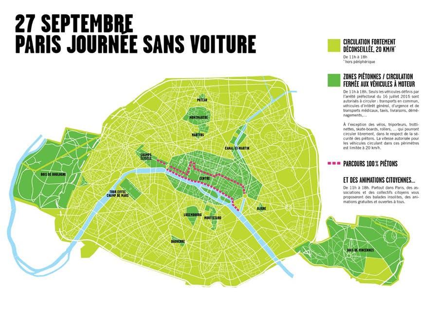 carte Paris sans voiture